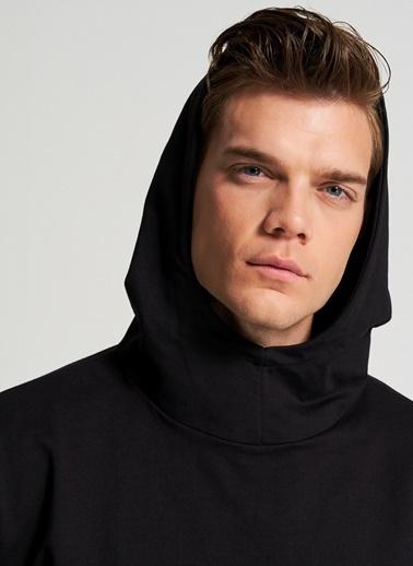 Pi π Kapüşonlu Sweatshirt Siyah